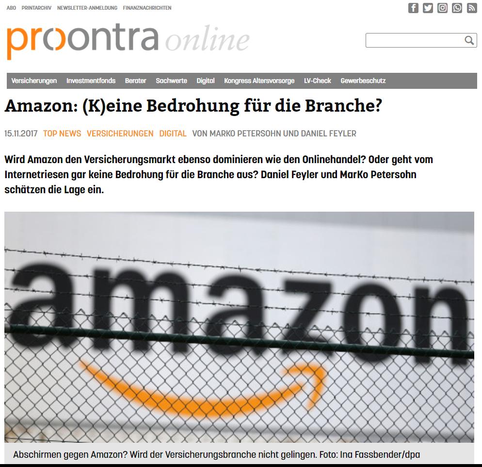 Ist Amazon eine Bedrohung für Versicherungen ProContra