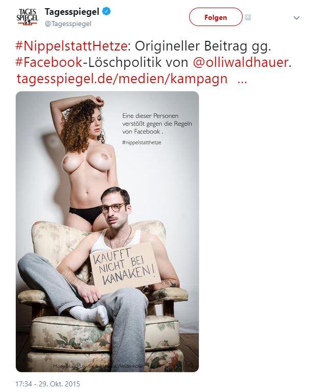 """moralischer Einfluss durch Social Media Plattformen am Beispiel von Facebook und der Aktion """"Nippel statt Hetze"""""""