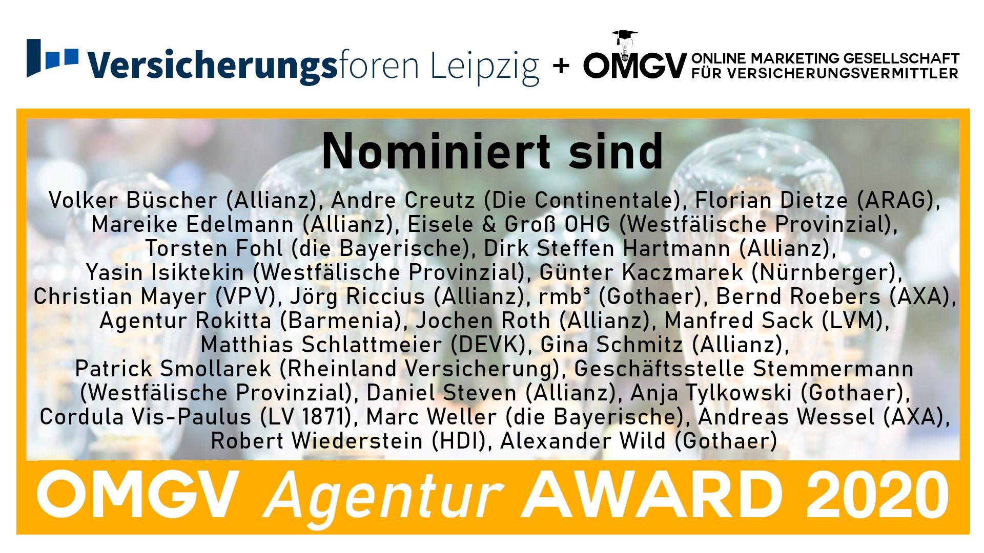 OMGV Award Nominierte Agenturen 2020